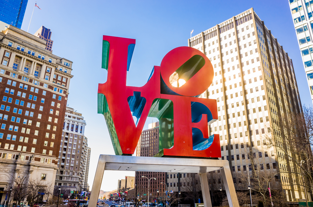 Love Park in Philadelphia, PA.