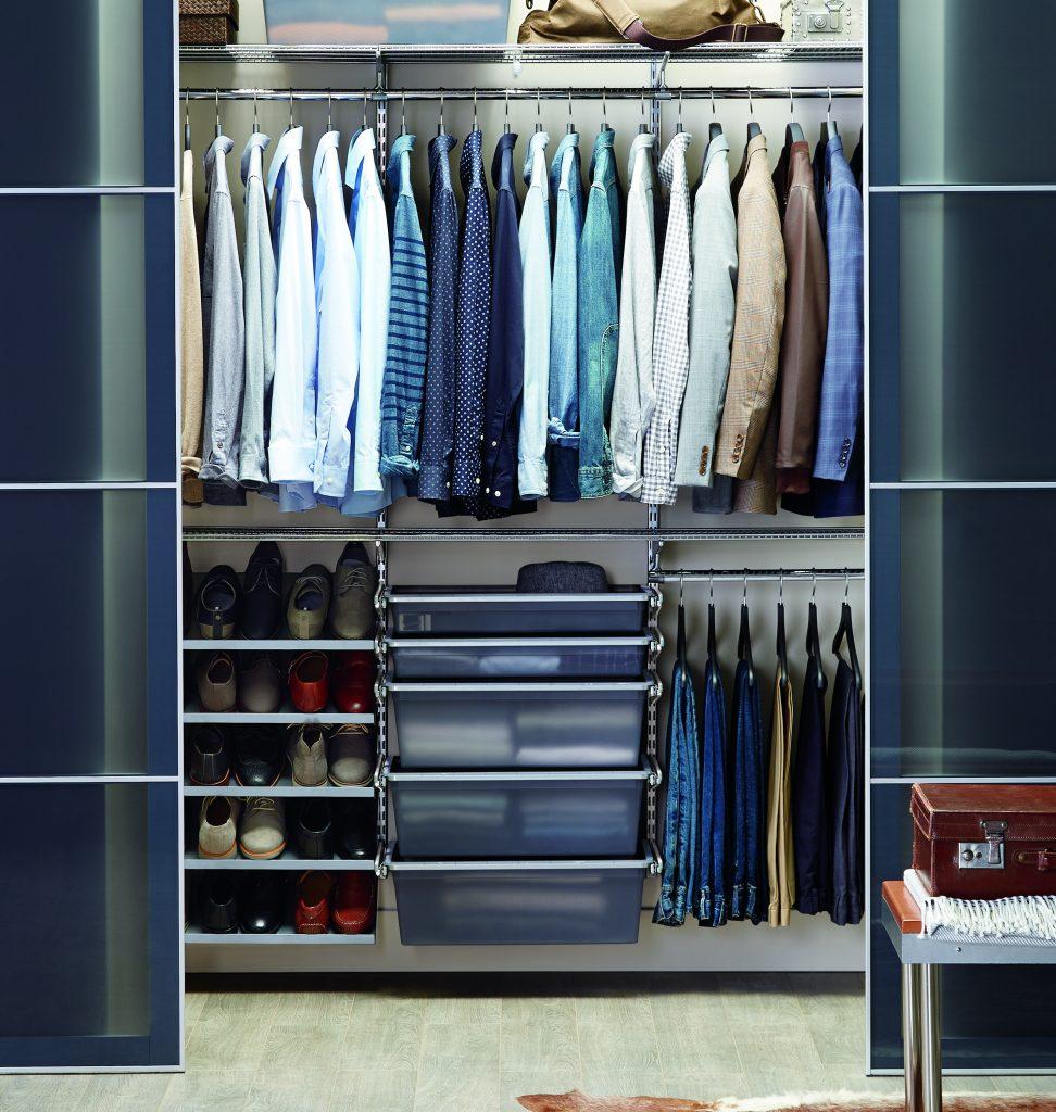 organized elfa closet