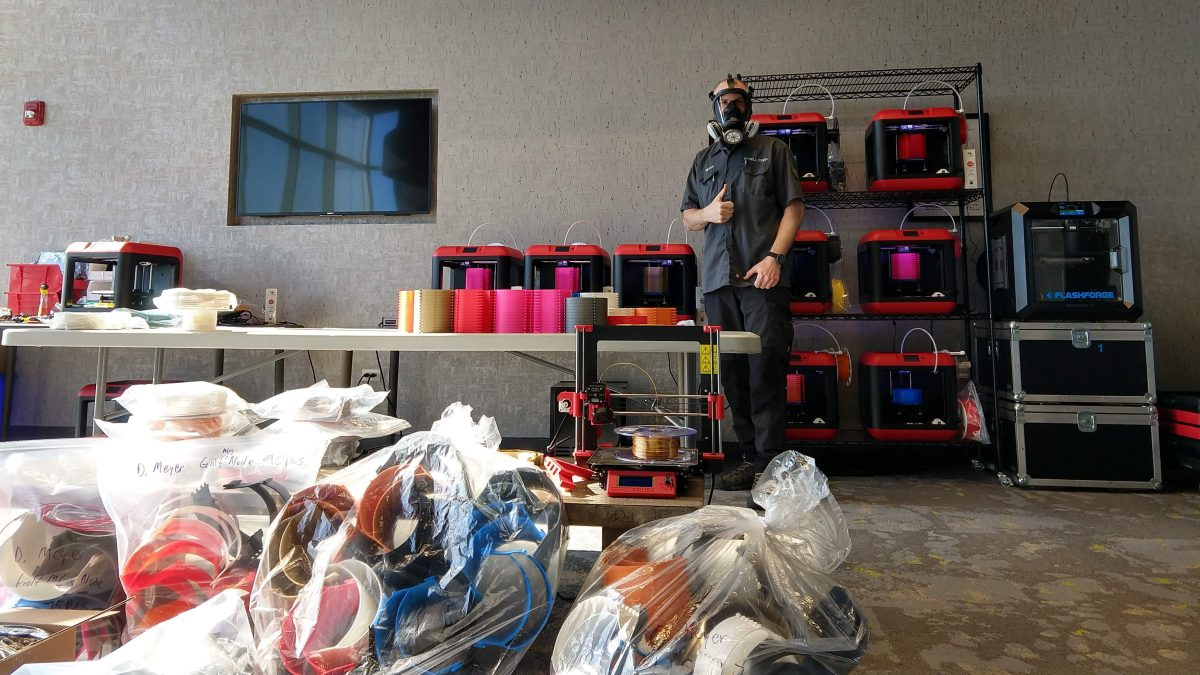 Teeing Up 3D Printers to Make Personal Protective Equipment for Hospitals